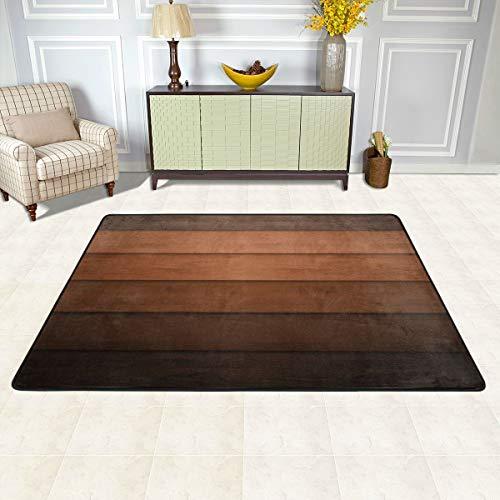 N/A Home Decor - Alfombra antideslizante para interiores y exteriores, lavable a máquina, habitación de niños, sala de juegos, alfombra de 60 x 39 pulgadas - Texturas de madera clásica