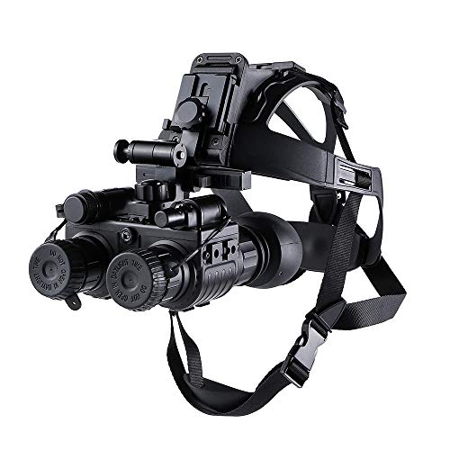 WOTR Cabeza Monte visión Nocturna Binocular, montado en la Cabeza de Segunda generación bajo Nivel de iluminación Digital de Infrarrojos Caza de Dispositivos de visión Nocturna, de la Fauna de Caza