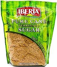 Iberia Turbinado Sugar 2lb (Pack of 12) Sparkling Golden Pure Raw Cane Turbinado Sugar Bulk, 12 Individual Resealable 2 lb. bags.
