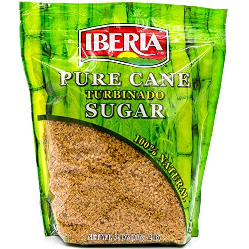 Iberia Turbinado Sugar 2lb (Pack of 12) Sparkling Golden Pure Raw Cane Turbinado Sugar Bulk, 12 Individual Resealable 2 lb....