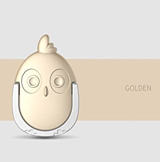 OWL BOY Smartphone Ring Camera Holder Cradle, 360 Degree Rotaing Mount Ring Cell Phone Kick Stand for iPhone Galaxy LG G Series (Gold)