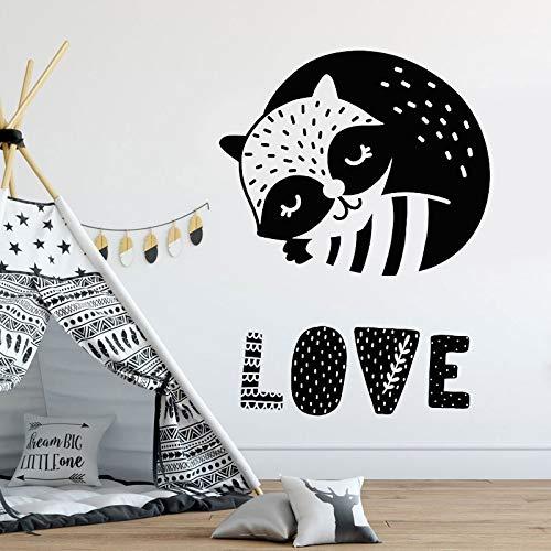 supmsds Adesivo murale Amore Infermiera di Procione Carina Decorare la Stanza del Bambino Decor, Baby Shower, Adesivo da Parete in Vinile, Regalo di Compleanno 42X56CM