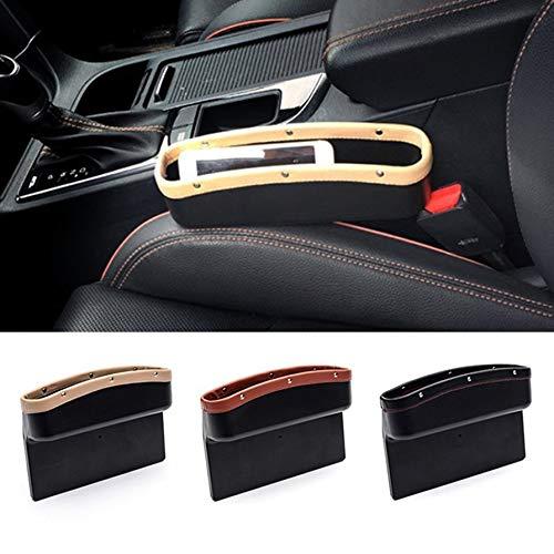Car Seat Crevice Storage Box Tazza Drink Holder Organizer Auto Gap Pocket riordino per la carta del telefono Coin Case Accessori 260x260x60mm beige
