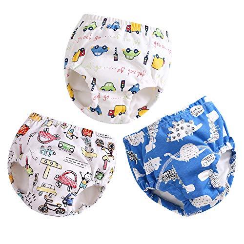 G-Kids G-Kids 3er Pack Baby Windelhose Unterhose Junge Mädchen Trainerhosen Windeln Töpfchentraining Unterhosen zum Trocken Werden A 90