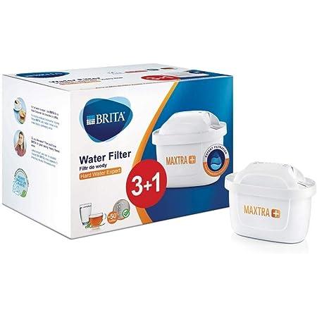 BRITA MAXTRA+ Hard Water Expert, Cartouche Filtrante pour Carafe, Lot de 4