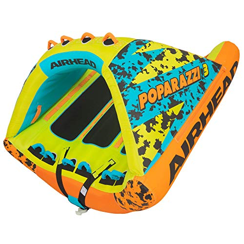 Airhead Poparazzi 2   1-2 Rider Towable Tube for Boating