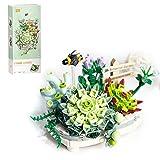 wwei piante grasse con vasi, 389 pezzi, piante grasse artificiali, albero bonsai per tavolo, casa, balcone, ufficio, decorazione non compatibile con lego 10281