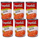 Campbell's Soup 10.5 ounce Cans (Pack of 6) (Low Sodium Vegetarian Vegetable)