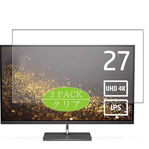 VacFun 3 Piezas HD Claro Protector de Pantalla para HP Envy 27s 4K 27' Y6K73AA-AAAP Monitor, Screen Protector Sin Burbujas...