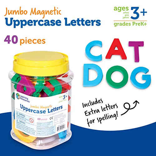 Learning Resources Jumbo Magnetic Uppercase Letters, ABCs, Early Letter Recognition, 40-Pieces, Large Magnetic Letters, Assorted Colors, Ages 3+ Photo #6