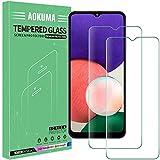 AOKUMA Protector de Pantalla para Samsung Galaxy A22 5G, [2 Unidades] Cristal Templado para Samsung Galaxy A22 5G Fácil Instalación, Sin Burbujas, Alta Definicion, 9H Dureza, Anti-Arañazos