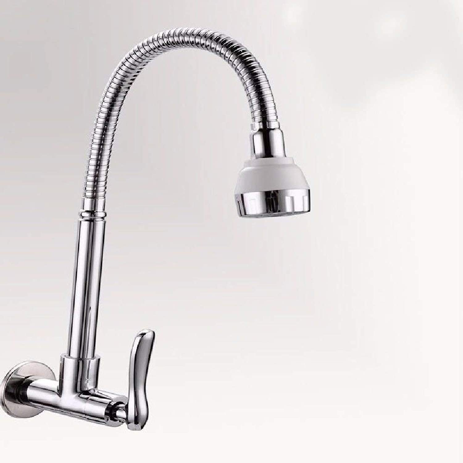 Oudan Kitchen bath basin sink mixer tap faucet solid brass wall mount only cold water faucet sink faucet (color   -, Size   -)