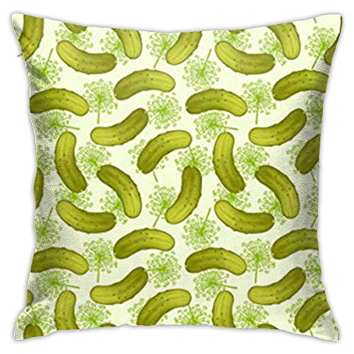 smartgood Dill Pickles Funda de Almohada Decorativa para cojín Funda de cojín 18'x 18' 45 x 45 cm
