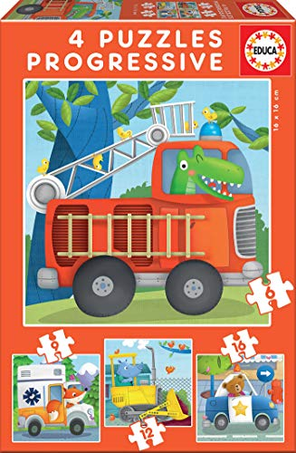 Educa - Puzzles Progresivos, puzzle infantil Patrulla de Res