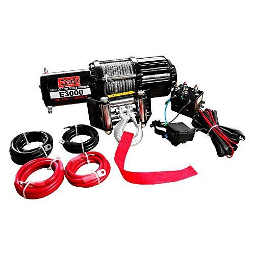 Engo 3,000 Lb. (1361Kg) 12 Volt Electric Winch for ATV, Load Holding Brake