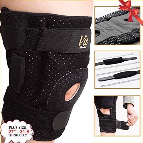 Plus Size XXXXL Compression Knee Sleeve by Vie Vibrante review