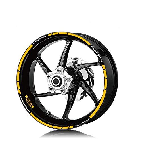WUYOUNYL Motorrad Front- und Hinterreifen wasserdichte Logo-Aufkleber Reflektierende Streifen Rim Set Aufkleber Fit...