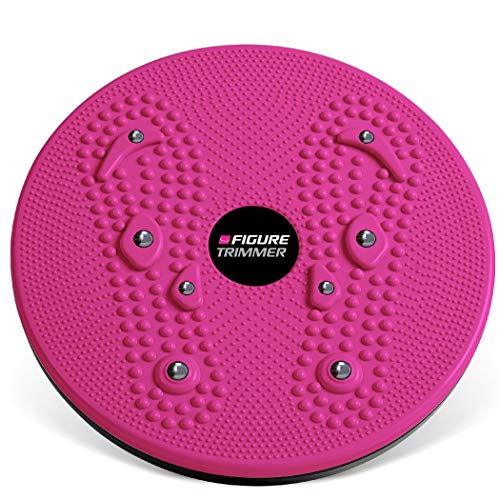 Figure Trimmer Ab Twister Board for Exercise Waist Twisting Disc with 8 Magnets by Daiwa Felicity (Pink)