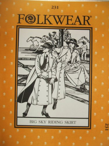 Folkwear #231 Big Sky Reitrock Western Cowgirl Schnittmuster