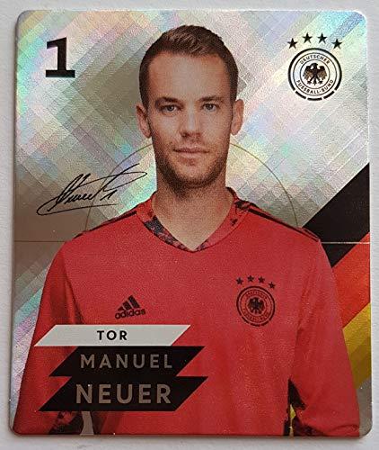 Rewe EM 2020 DFB - Sammelkarten - Glitzer - Manuel Neuer - Nr. 1 - Zusatzbonus 1 toysagent Sonderkarte