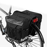 ZOYLINK Bike Pannier Bag Large Capacity Reflective Bike Rear Bag Bike Rack Bag