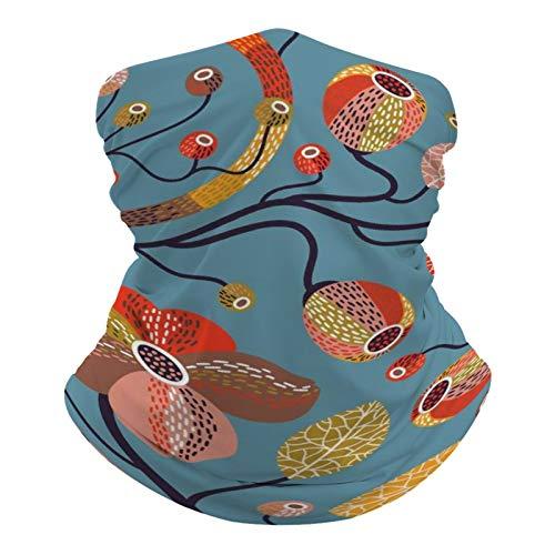 DKE&YMQ Pañuelo multifuncional unisex con patrón elástico y transpirable para la cabeza, con resistencia a los rayos UV, diseño de melocotón