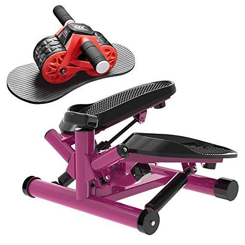 leikefitness Twist Stair Stepper 6610(Purple) and Ab Carver Wheel Roller 1300 Bundle