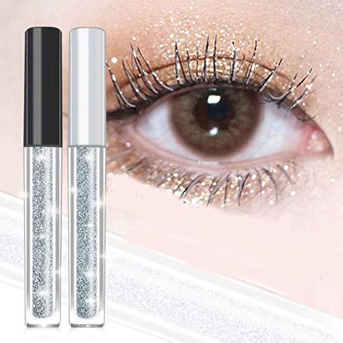 Qianren Diamond Glitter Eyes Mascara, schimmernde Wimperntusche, natürlich, dick, wasserdicht und schweißhemmend