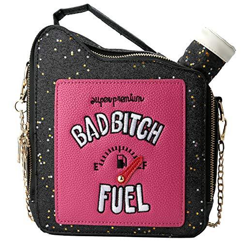 QiMing Gasoline Shoulder Handbag,Sequins