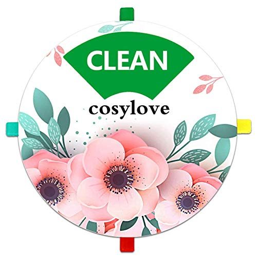 Geschirrspüler-Magnet, Clean Dirty Sign-Anzeige mit Lauf- und Leeroptionen, Küchenhelfer für alle Geschirrspüler ohne Kratzer mit magnetischer Rückseite und Optionen für selbstklebende Aufkleber