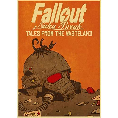 Juego Poster Fallout Vintage Poster Printing Wall Decoración del Hogar Creativo Lienzo Pintura Póster Pintura Sin Marco 40X50Cm (Y: 1231)