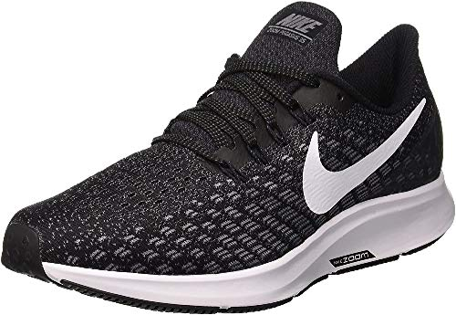 Nike Women's WMNS Air Zoom Pegasus 35 Running Shoes, Black (Black/White/Gunsmoke/Oil Grey 001), 4 UK