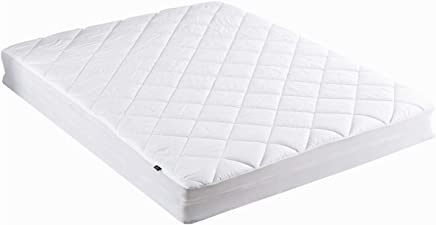 puredown Down Topper Fitted Quilted 100% Cotton Top and Bottom Down Alternative Mattress Pad,