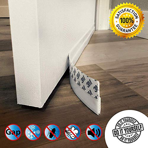 Door Draft Stopper Guard, Door Seal Sweeps for Interior Doors Gap Wind Blocker Strip Soundproof Under Door Bottom Seal Weather Stripping