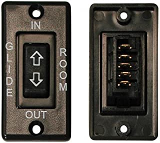 Diamond Group RV Trailer Camper Electrical Switch In-Line Black W/Plate V (1)