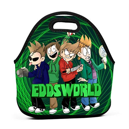 Shichangwei Neoprene Lunch Boxes Edds_Cool_World Lunch Tote Bag for Women Men Insulated Kids School Reusable Large