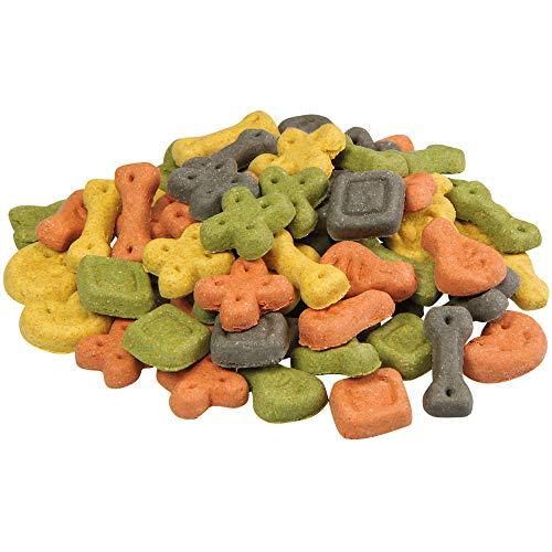 Schecker 1 kg Hundekekse Glücks Kekse Bunte Mischung aus verschiedenen Belohnungshäppchen in unterschiedlichen Geschmacksrichtungen Hundekuchen Hundeleckerlie