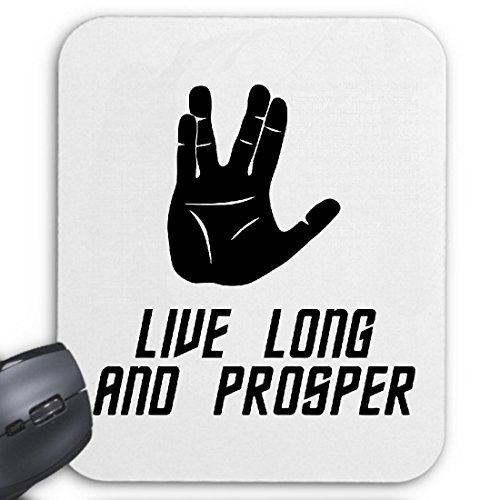 Reifen-Markt Mousepad (Mauspad) Live Long and Prosper Star Trek Spock Vulkan Trek für ihren Laptop, Notebook oder Internet PC (mit Windows Linux usw.)