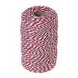 Vivifying 200m Rot und Weiß Bindfäden, Ideal zum Backen, Fleisch anrichten, Handarbeiten, Geschenke Verpacken an Weihnachten
