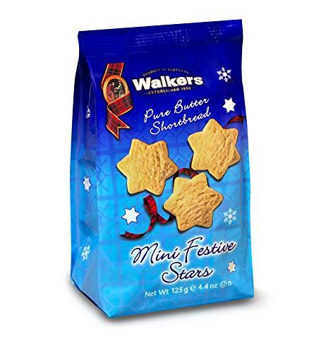 Walkers Shortbread Hanukkah Mini Festive Stars Shortbread Holiday Cookies, 4.4 Ounce Bag (Pack of 12)