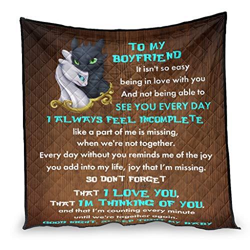YshChemiy To My Boyfriend Dragon - Colcha de algodón gigante para sofá (130 x 150 cm), diseño de dragón