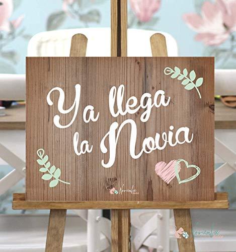Cartel Ya llega la Novia Rosa y Verde