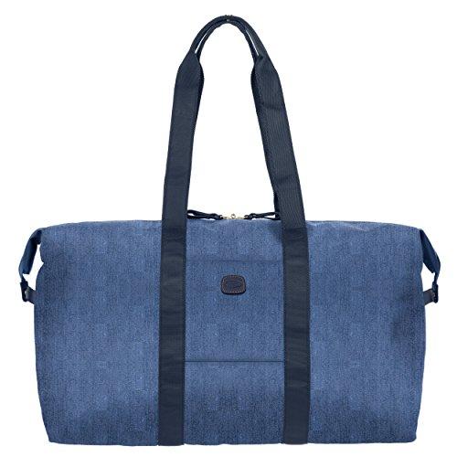 Bric's Unisex-Adult x-Travel 18 Inch Cargo Overnight Folding Duffle Bag Duffel, Jean, One Size
