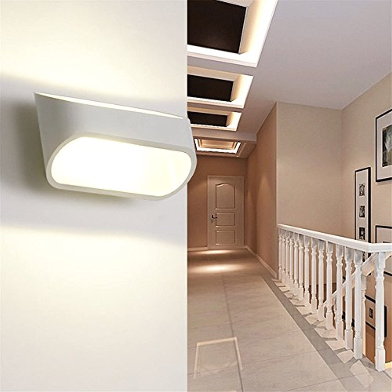 Modern LED Wandleuchte LED Wandleuchte warme Persnlichkeit Schlafzimmer Nachttischlampe Edelstahl Ganglampe Wandlampe Vintage Retro Café Loft Bar Flurlampe, Wandlampe Upaus Aluminium für Flur.