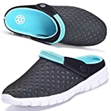 hsyooes uomo donna zoccoli scarpe da spiaggia traspirante antiscivolo scarpe da doccia estive ciabatte scarpe giardino infradito estate,blue,42 eu
