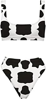 Best cow print two piece Reviews