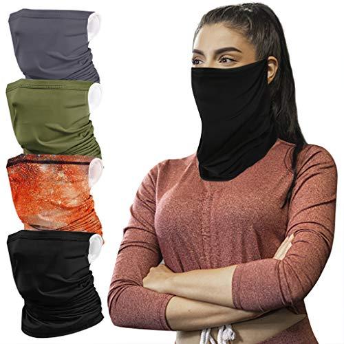 Neck Gaiter Face Mask for Women Men, Sports Neck Gator Face Scarf Cover Mask