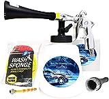 LifeUp Kit de Lavage- Pistolet de Nettoyage à Air Comprimé, Pistolet de Nettoyage Pneumatique avec Bouteille de Mousse 1L, Essentiels de Soin de Voiture