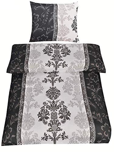 4piezas microfibra cama 2x 135x 200cm + 2x 80x 80cm Top detailiertes Diseño clásico & elegante en antracita negro, marrón y beis con RV