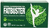 Fatbuster Herbal Slenderizing Tea Weight Loss Diet Tea, Green Tea Flavor, 24 Count (Pack of 6)
